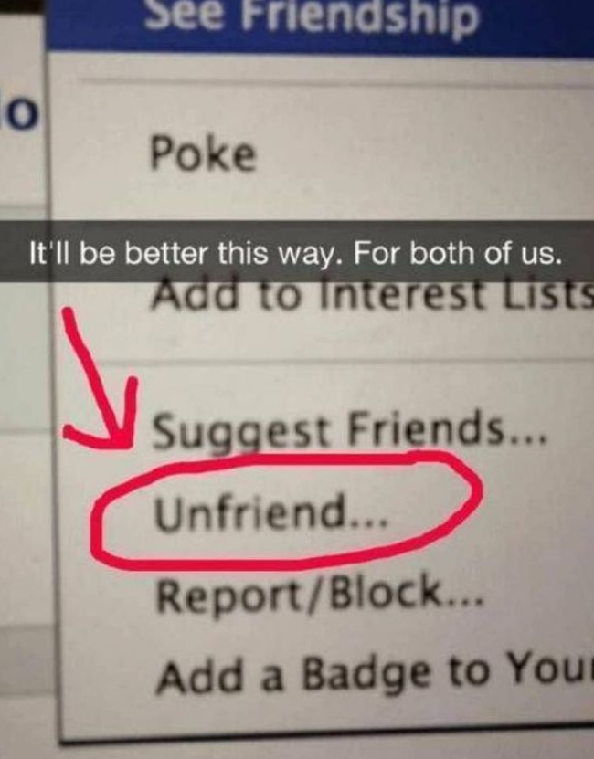 Friendship Is Over