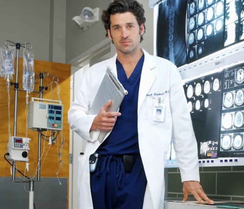 Patrick Dempsey (Dr. Derek Shepherd – Grey's Anatomy)