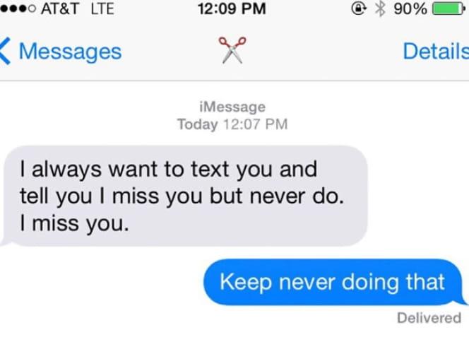 Never Doing It