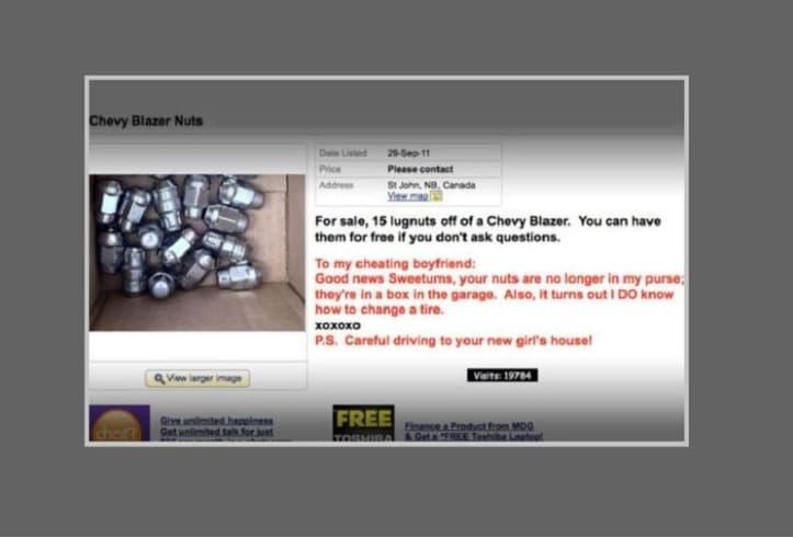 The Craigslist Ad