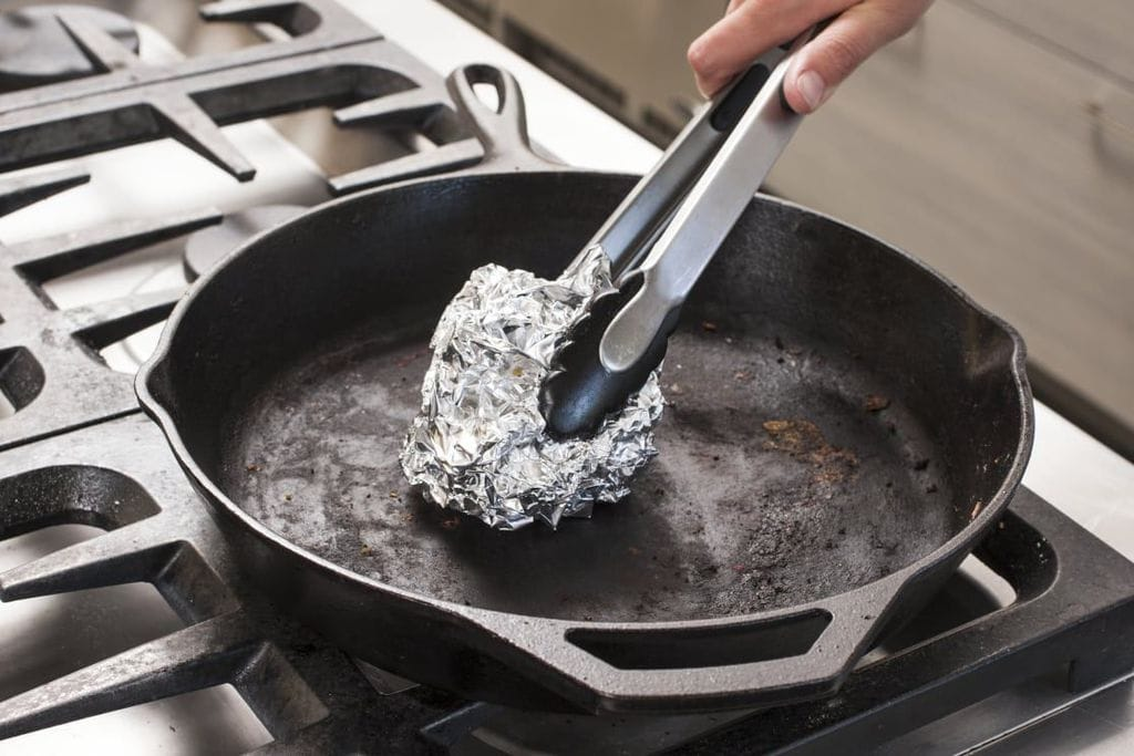 Scrub Cast Iron Pans And Grills