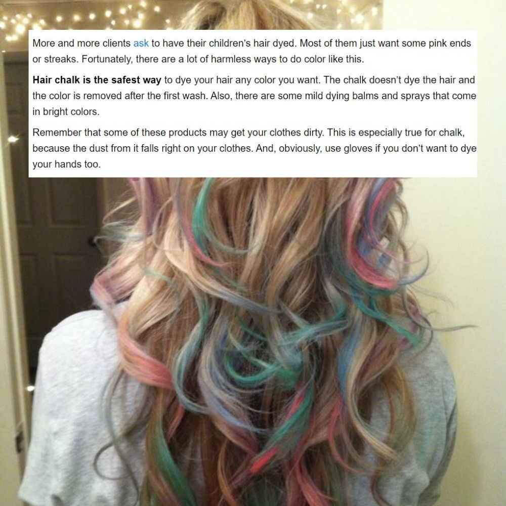 Use Hair Chalk For Kids