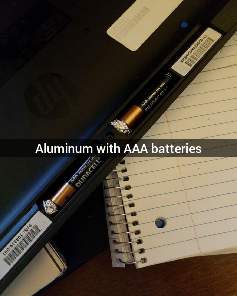 Aluminum And Batteries