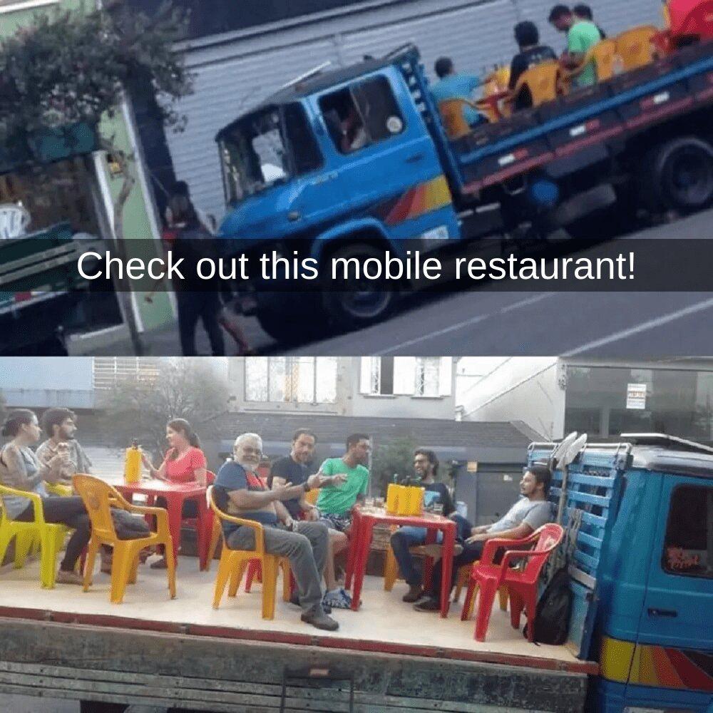 Creative Outdoor Dinner