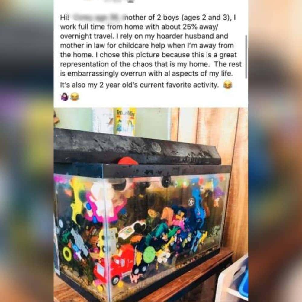 Fish Tank Of Toys