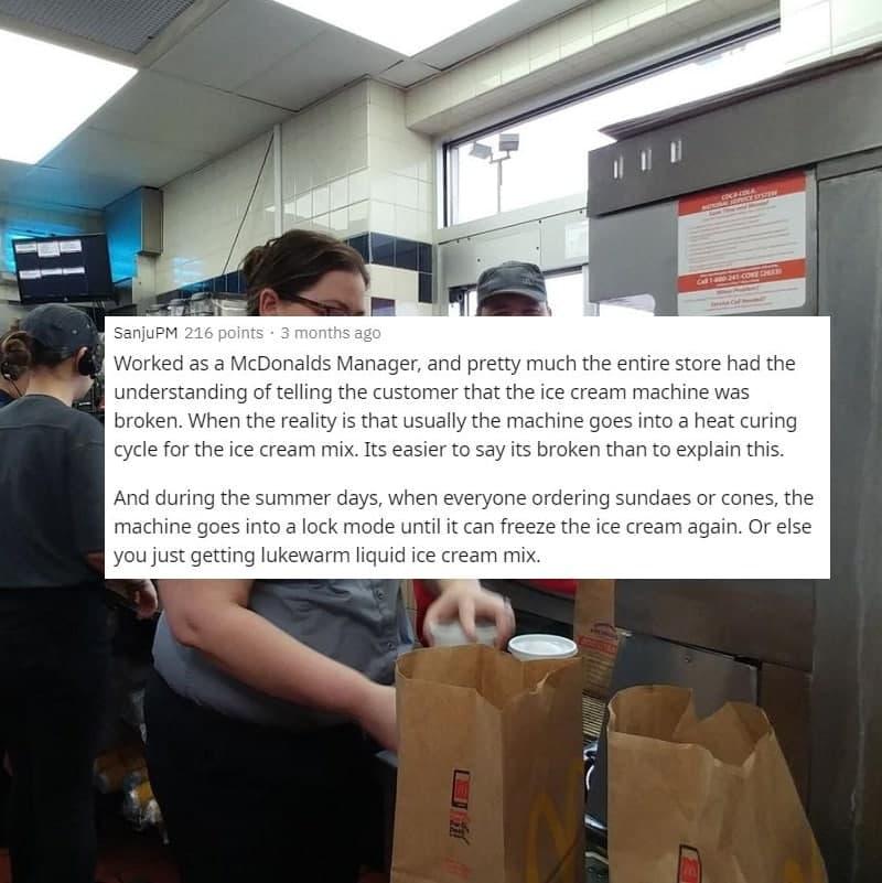 Sorry, The Ice Cream Machine Is Broken